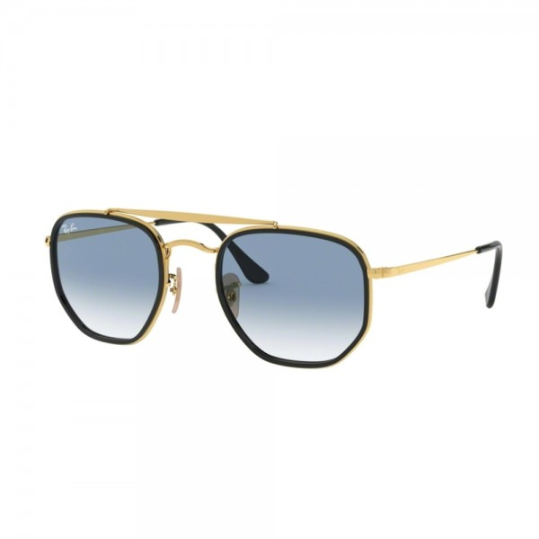 occhiali-da-sole-ray-ban-rb364m-91673f-52-23-145-unisex-oro-lenti-clear-gradient-blu