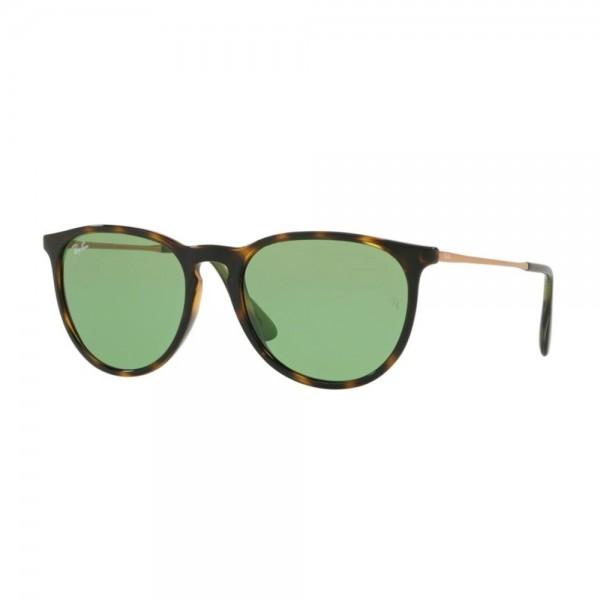 occhiali-da-sole-ray-ban-erika-unisex-avana-scuro-lucido-lenti-green-rb4171-6393-2-54-18-145