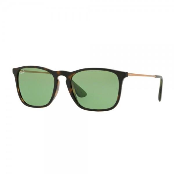 occhiali-da-sole-ray-ban-unisex-avana-scuro-lucido-lenti-green-rb4187-6393-2-54-18-145