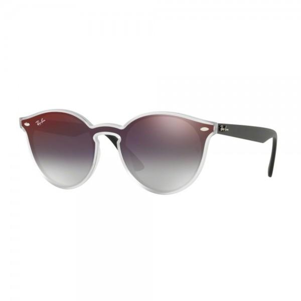 occhiali-da-sole-ray-ban-unisex-matt-trasparent-lenti-grey-gradient-mirror-red-rb4380n-6355u0-37-13-145