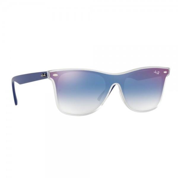 occhiali-da-sole-ray-ban-unisex-matt-trasparent-lenti-clear-gradient-blue-mirror-red-rb4440n-6356x0-41-14-145