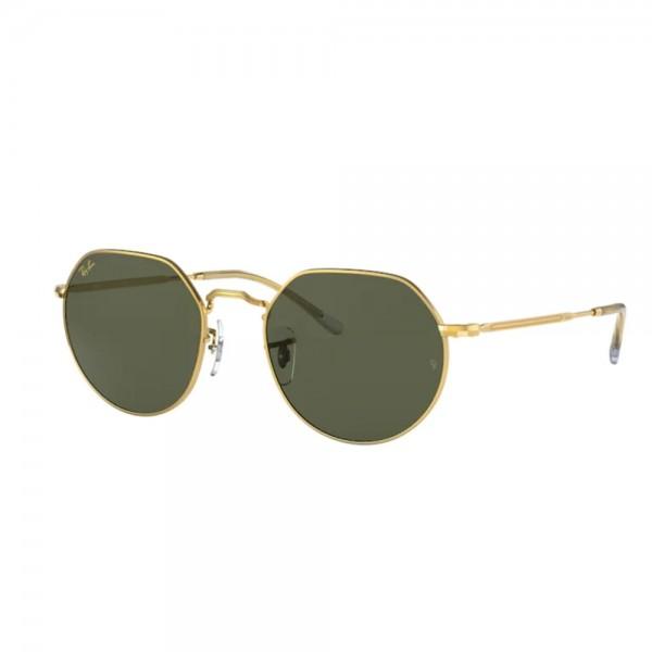 occhiali-da-sole-ray-ban-rb3565-919631-53-20-145-unisex-legend-gold-lenti-green