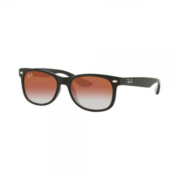 occhiali-da-sole-ray-ban-junior-unisex-black-lenti-light-mirror-red-gradient-rj9052s-100-vo-48-16-130
