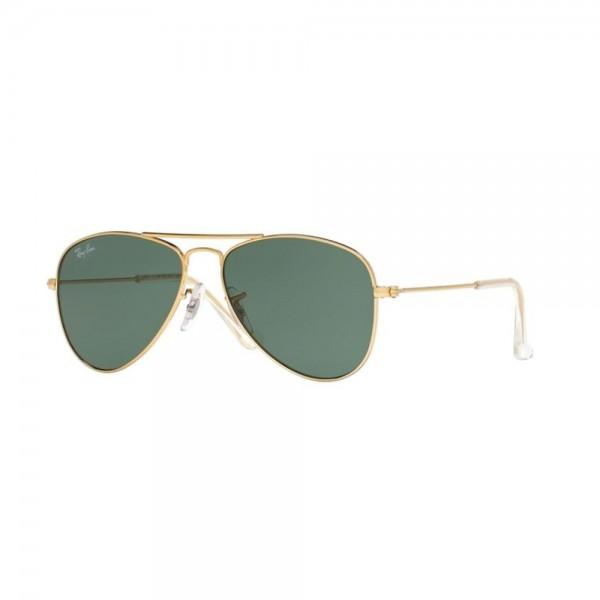 occhiali-da-sole-ray-ban-junior-unisex-gold-lenti-grigio-verde-rj9506s-223-71-52-14-125