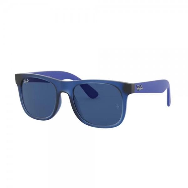 occhiali-da-sole-ray-ban-rj9069s-706080-48-16-130-boy-junior-rubber-transparent-blue-lenti-dark-blue