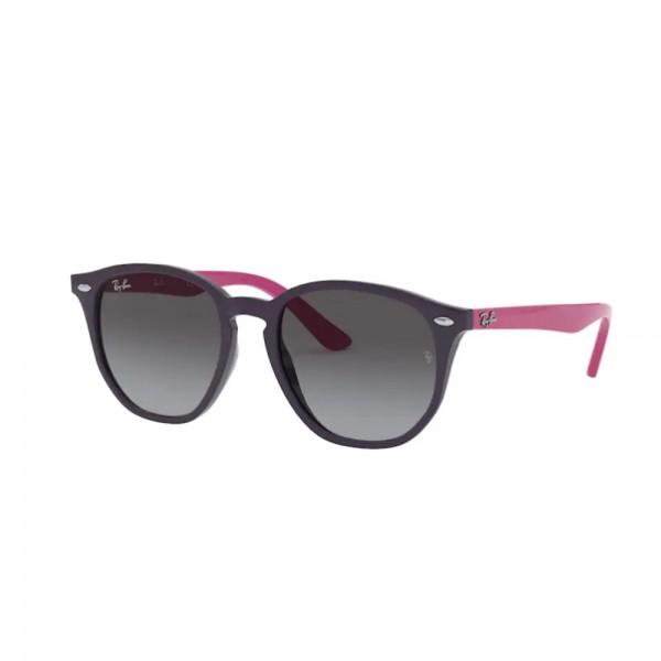 occhiali-da-sole-ray-ban-rj9070s-70218g-46-16-130-unisex-junior-violet-lenti-light-grey-gradient-dark-grey