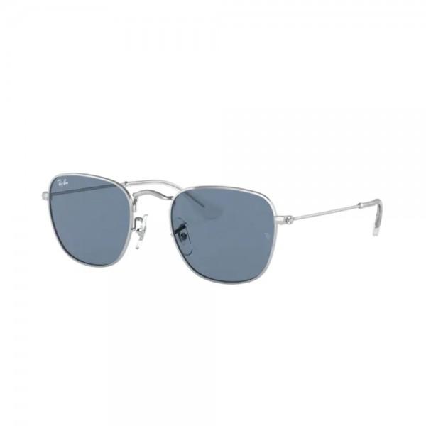 occhiali-da-sole-ray-ban-rj9557s-212-80-46-19-130-unisex-junior-silver-lenti-dark-blue