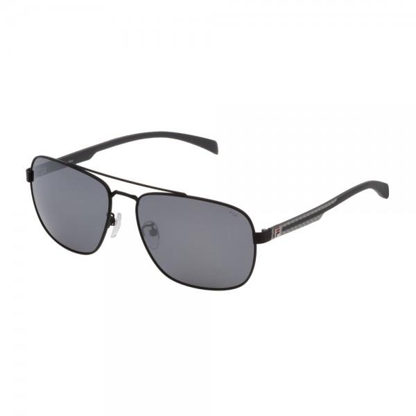 occhiali-da-sole-fila-sf8493-531p-60-16-145-unisex-nero-semilucido-totale-lenti-smoke-mirror-silver-polarizzato
