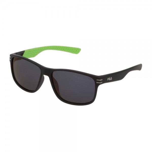 occhiali-da-sole-fila-sf9328-u28p-60-15-140-unisex-nero-opaco-lenti-smoke-multilayer-red-polarizzato