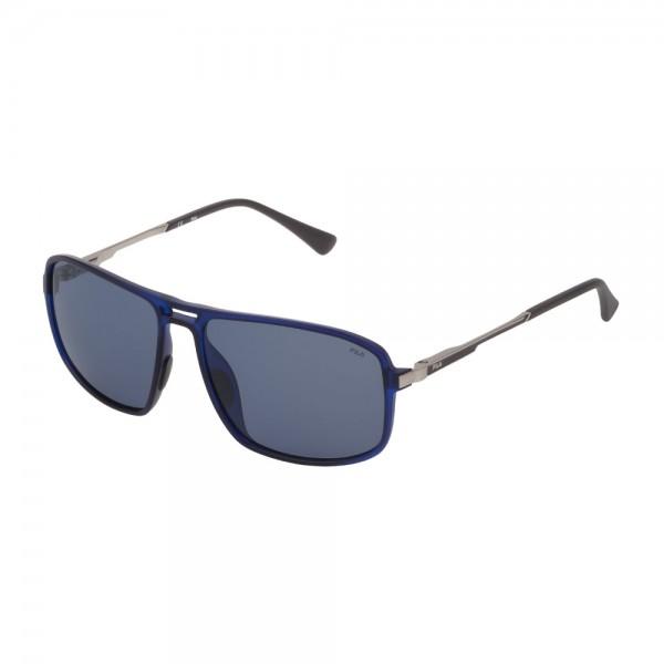 occhiali-da-sole-fila-sf9329-u58p-58-15-140-unisex-blu-trasparente-opaco-lenti-blue-polarizzato