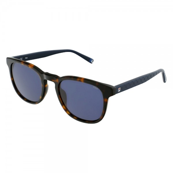 occhiali-da-sole-fila-sf9392v-0722-51-21-140-unisex-avana-scura-lucido-lenti-smoke