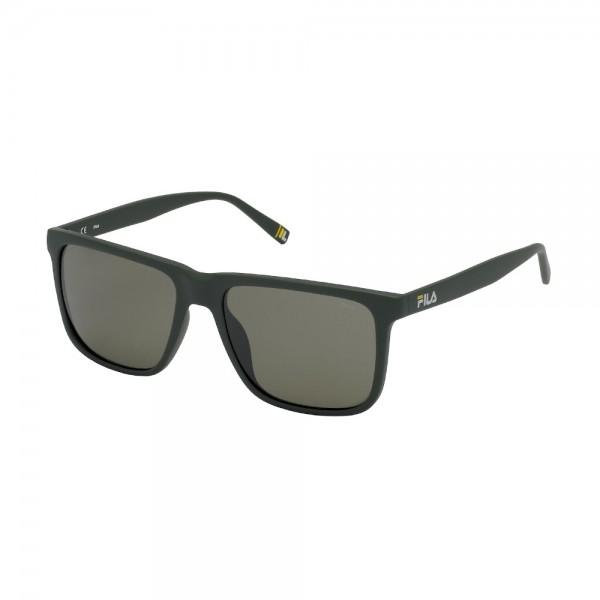 occhiali-da-sole-fila-sf9396-r43p-56-17-145-unisex-grigio-pieno-opaco-lenti-brown-polarizzato