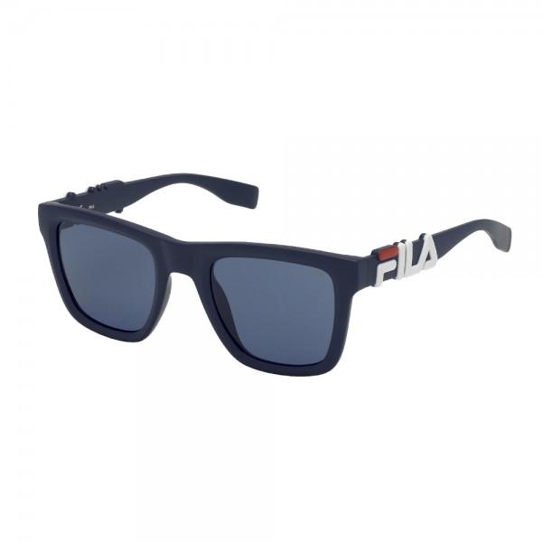 occhiali-da-sole-fila-sf9416-0c03-51-23-145-unisex-blu-opaco-lenti-blu