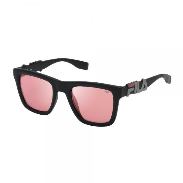 occhiali-da-sole-fila-sf9416-u28k-51-23-145-unisex-nero-opaco-lenti-red