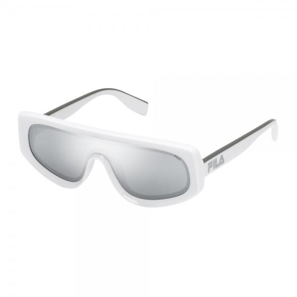 occhiali-da-sole-fila-sf9417-4aox-99-00-145-unisex-bianco-pieno-lucido-lenti-smoke-mirror-silver