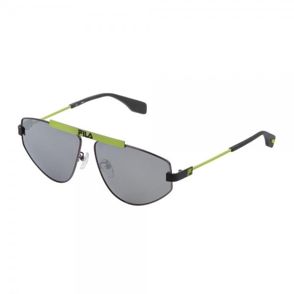 occhiali-da-sole-fila-sf9993-568p-59-12-140-unisex-bachelite-lucida-totale-lenti-smoke-mirror-silver-polarizzato