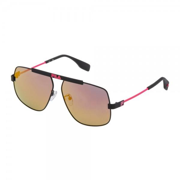 occhiali-da-sole-fila-sf9994-531r-60-12-140-unisex-nero-semilucido-totale-lenti-red-polarizzato