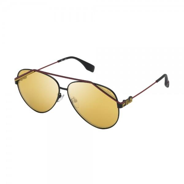 occhiali-da-sole-fila-sfi018-531g-61-11-140-unisex-nero-semilucido-totale-lenti-brown-mirror-gold