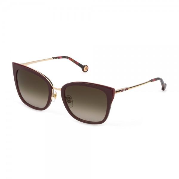 occhiali-da-sole-carolina-herrera-she866-0357-54-20-135-donna-oro-rose-lucido-con-parti-rosso-lenti-brown-gradient