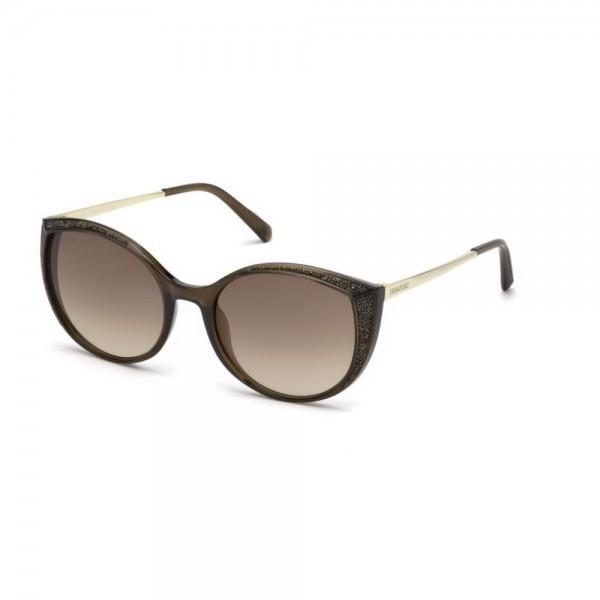 occhiali-da-sole-swarovski-donna-marrone-chiaro-lucido-lenti-brown-gradient-sk0168-s-45f-55-19-140