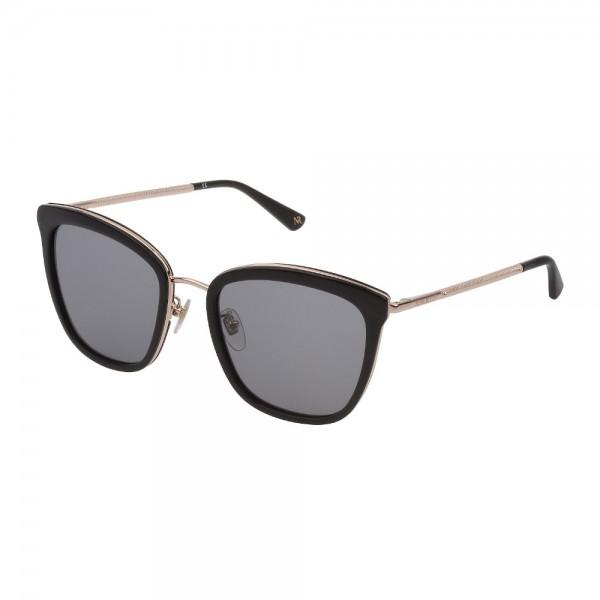 occhiali-da-sole-nina-ricci-snr215-0700-55-20-140-donna-oro-nero-lucido-lenti-smoke