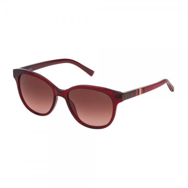 Occhiali da Sole sting bitmap 3 junior rosso trasparente lucido Lenti brown gradient pink SSJ644 0768 49-16-130
