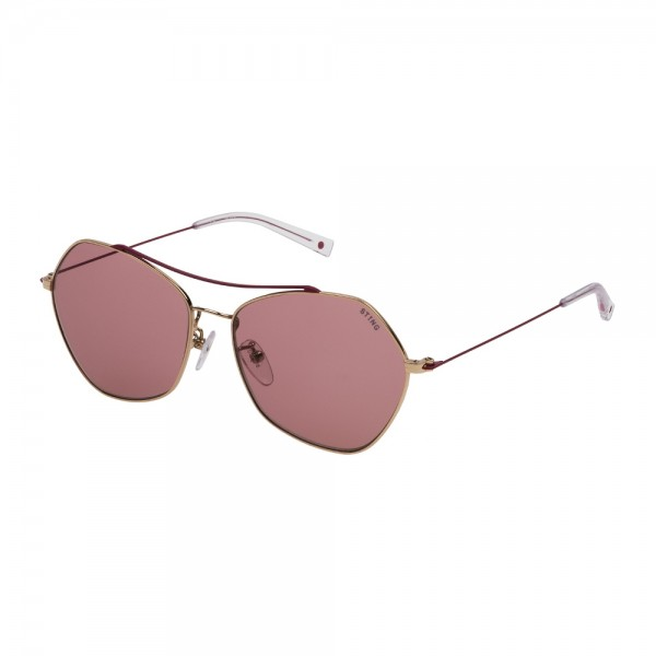 occhiali-da-sole-sting-trend-3-unisex-oro-rose-lucido-lenti-violet-sst193-0a93-56-14-140