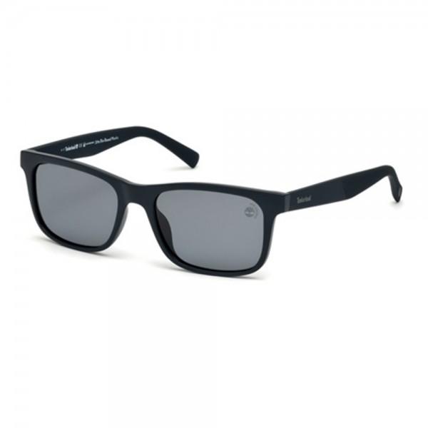 occhiali-da-sole-timberland-tb9141-s-91d-55-18-145-unisex-blu-opaco-lenti-fumo-polarizzato