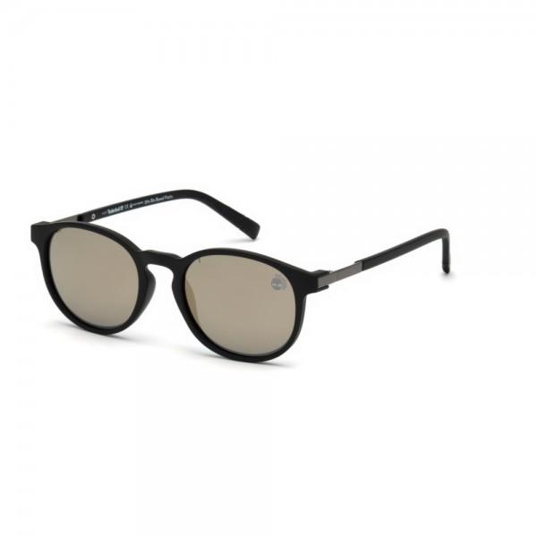 occhiali-da-sole-timberland-tb9151-s-02r-51-19-145-unisex-nero-opaco-lenti-verde-polarizzato