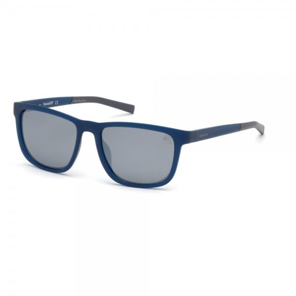 occhiali-da-sole-timberland-tb9162-s-91d-55-17-145-unisex-blu-opaco-lenti-fumo-polarizzato