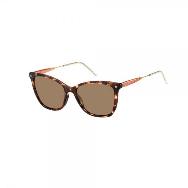 occhiali-da-sole-tommy-hilfiger-th1647-086-54-17-140-donna-avana-scuro-lenti-marrone