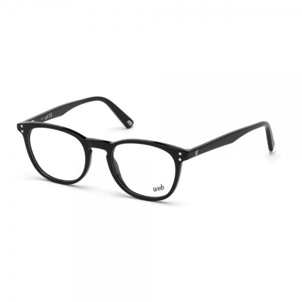 occhiali-da-vista-web-we5279-001-49-19-145-unisex-nero-lucido